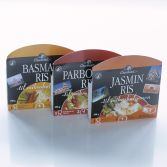 Emballagedesign private label Global Cuisine ris Dansk Supermarked Packaging Design