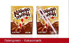 Emballagedesign Falengreen Kakaomælk Packaging Design