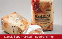 Emballagedesign Dansk Supermarked Bagerens Hvedemel Packaging Design