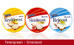 Emballagedesign Falengreen Smøreost Packaging Design