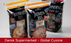 Emballagedesign Dansk Supermarked Global Cuisine ris Packaging Design