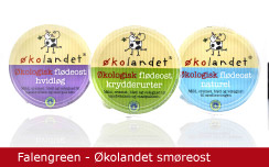 Emballagedesign Falengreen Økolandet smøreost Økologi Packaging Design