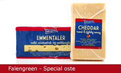 Emballagedesign Falengreen Special oste Packaging Design