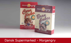 Emballagedesign Dansk Supermarked Morgengry morgenmad Packaging Design