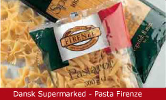Emballagedesign Dansk Supermarked Pasta Firenze Packaging Design