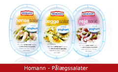 Emballagedesign Homann - Pålægssalater Packaging Design