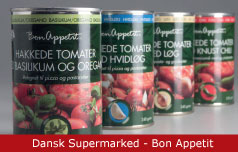 Emballagedesign Hakkede Tomater - Dansk Supermarked - Packaging Design