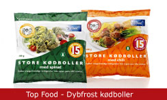 Emballagedesign Top Food - Dybfrost kødboller - Packaging Design