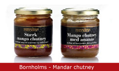 Emballagedesign Bornholms - Mandar chutney Packaging Design