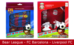 Emballagedesign Bear League FC Barcelona Liverpool FC Packaging Design
