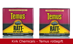 Emballagedesign Temus Rottegift Kirk Chemicals Packaging Design
