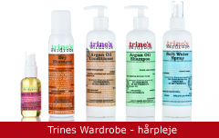 Emballagedesign Trines Wardrobe hårpleje Packaging Design